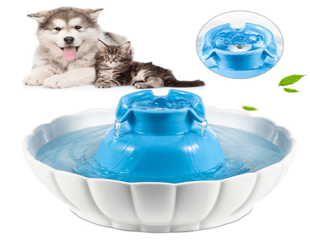 Cat Water Fountain YOUTHINK 2.1L Ceramic Pet Water Fountain