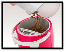 lusmo automatic pet feeder capacity