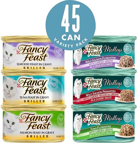 Purina Fancy Feast Variety Pack Wet Cat Food renal cat food
